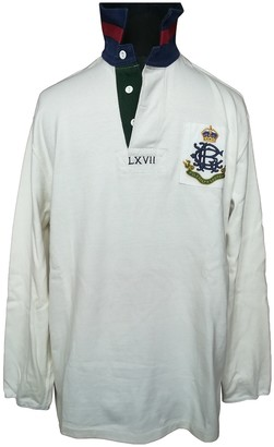Polo Ralph Lauren Polo Rugby manches longues White Cotton Polo shirts