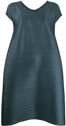 Pleats Please Issey Miyake Gathered Flare Dress