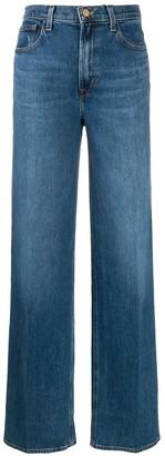 J Brand x Elsa Hosk wide leg jeans