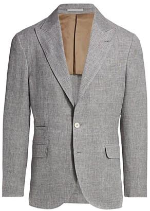 Brunello Cucinelli Wool, Linen & Silk Single-Breasted Jacket