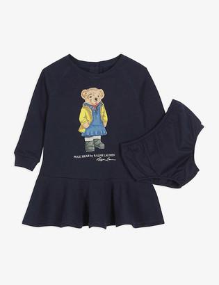 Ralph Lauren Polo Bear cotton-blend sweater dress and knickers set 3-24 months