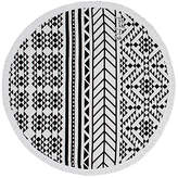 The Beach People Aztec Round Towel in Black & White.