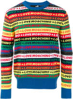 Love Moschino logo stripe sweater