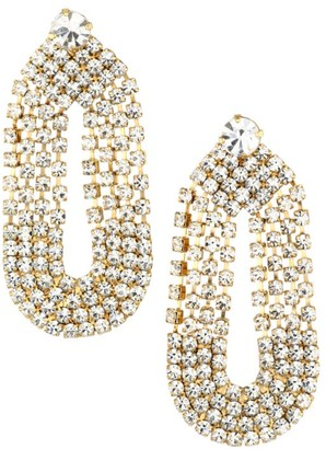 Gas Bijoux 24K Goldplated & Crystal Drop Earrings