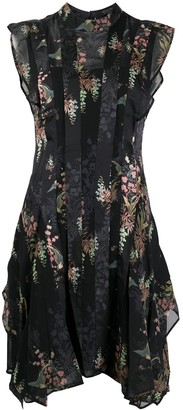 AllSaints Floral Print Mini Dress