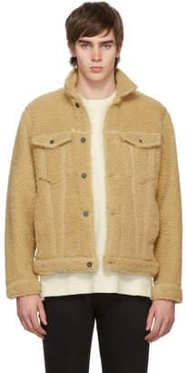 Naked & Famous Denim Denim Beige Fleece Jacket