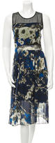Timo Weiland Silk Floral Print Dress