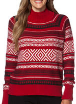 Chaps Plus Patterned Mock Neck Sweater