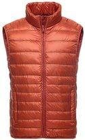 YOUJIA Men's Ultra Light Down Jacket Warm Packable Down Vest Coat (, L)