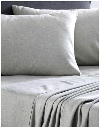 Sheridan Delaware Flannelette Sheet Set in Grey Marl Grey Marle Queen