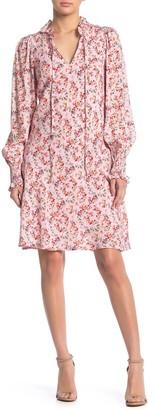 MelloDay Floral Print Front Tie Dress