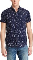 Denim & Supply Ralph Lauren Short Sleeve Star Cotton Poplin Shirt, New Star Print