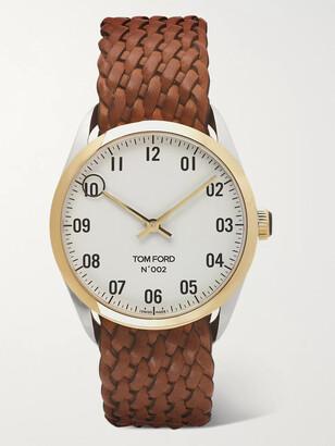 Tom Ford Timepieces 002 40mm 18-Karat Gold And Alligator Watch