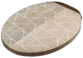 Thirstystone Whitewashed Etched Oval Serving Board with Leather Strap