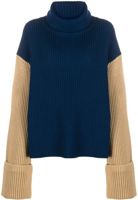 Victoria Victoria Beckham Two-Tone Turtleneck Jumper