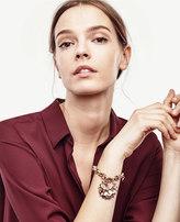 Ann Taylor Crystal Sequin Floral Bracelet