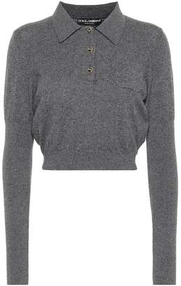 Dolce & Gabbana Cropped cashmere top