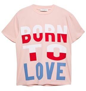 Sandro Geraldine Printed Cotton-jersey T-shirt