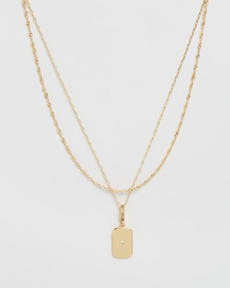 Oroton Astrid Tag Charm Necklace