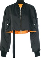 Thumbnail for your product : Unravel Project Cropped Skull Bomber Jacket