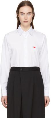 Comme des Garcons White Mens Fit Tiny Heart Patch Shirt