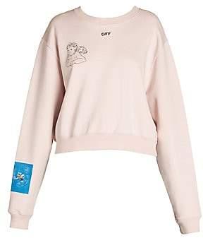 Off-White Women's Angel Cropped Crewneck Sweatshirt