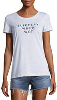 Milly Slippery When Wet Crewneck Tee
