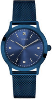 GUESS Men's Classic Blue Stainless Steel Mesh Bracelet Watch 37mm U0919G4
