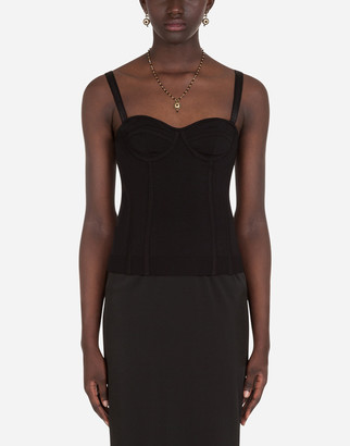 Dolce & Gabbana Bustier Top With Sweetheart Neckline