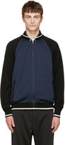 Junya Watanabe Navy japan Eagle Zip-up Sweater
