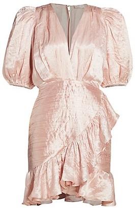 Ronny Kobo Mindy Puff-Sleeve Dress