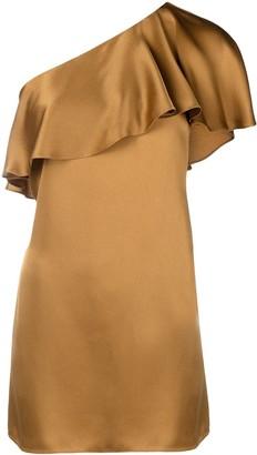 Saint Laurent Draped Asymmetric Mini Dress