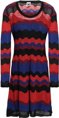 M Missoni Color-block Pointelle-knit Mini Dress