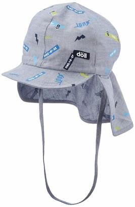 Döll Doll Boys' Bindemutze mit Schirm und Nackenschutz Hat