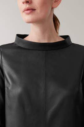 Cos LEATHER LONG-SLEEVED TOP