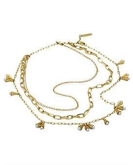 Ellery Eli Corrigated Cup Necklace