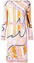 Emilio Pucci printed belted sheath dress