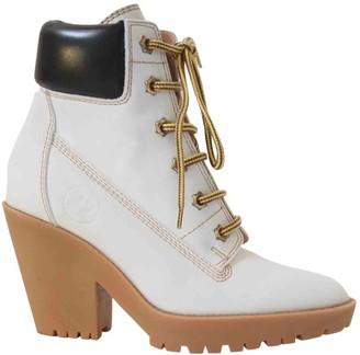 Maison Margiela White Leather Boots