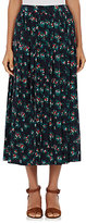 TOMORROWLAND Women's Pleated Floral Midi-Skirt