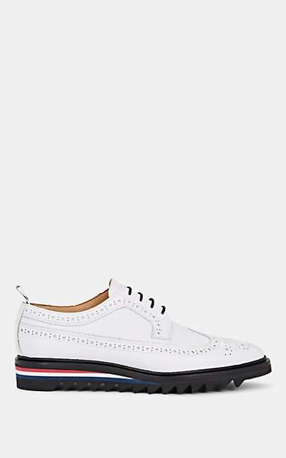 Thom Browne Women's Pebbled Leather Wingtip Bluchers - White