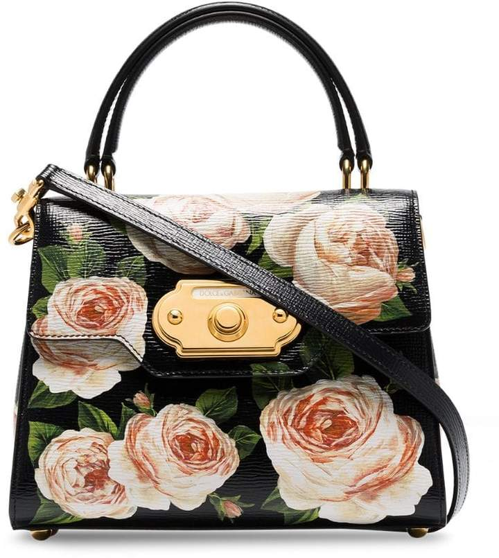 735da629d08 Dolce & Gabbana Black Floral Print Handbags - ShopStyle