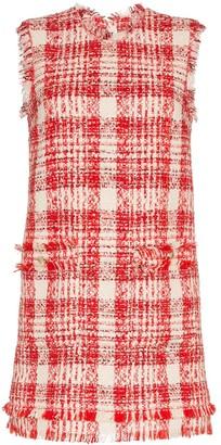 MSGM Check Tweed Mini Dress