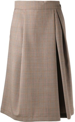 Barena Check Print Pleated Kilt