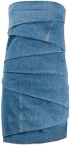 Philosophy di Lorenzo Serafini layered denim mini dress