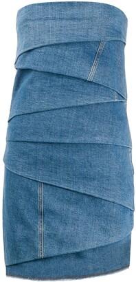 Philosophy di Lorenzo Serafini layered denim mini dress