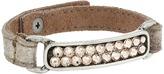 Leather Rock B737 Bracelet
