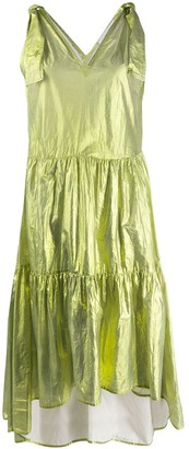 8pm Metallized Flared Dress