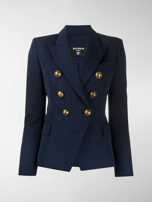 Balmain Fitted Double-Breasted Jacket