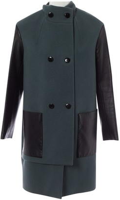 Yves Salomon Green Wool Coat for Women