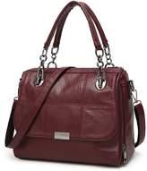 Hoxis Front Flap Top Pocket Chain Handle Satchel Womens Shoulder Handbag